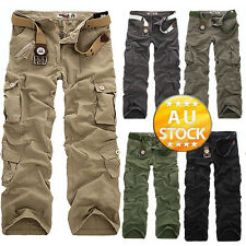 Men's casual cargo pants casual slacks Pants Military Trousers
