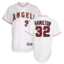 Josh Hamilton Anaheim LA Angels Home White Jersey Men's (M-2XL)