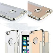 "Luxury Brushed Aluminum Steel Chrome Hard Case Cover For iPhone 6 4.7"" / 6 Plus"