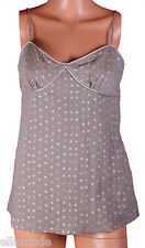 Fenchurch Women's Grey Cami Style Strappy Sleeveless Top Free UK Shipping Small