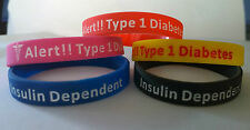 MEDICAL ALERT WRISTBAND/BRACELET FOR TYPE 1 & TYPE 2 DIABETICS/ DIABETES