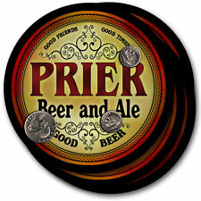 Prier Beer and Ale Coasters - 4pak - Great Gift