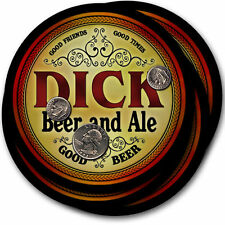 Dick Beer and Ale Coasters - 4pak - Great Gift