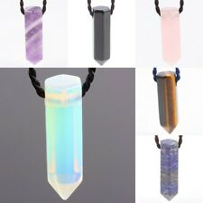 Amethyst/Quartz/Lazuli/Opal Crystal Point Stone Healing Gemstone Necklace Chain