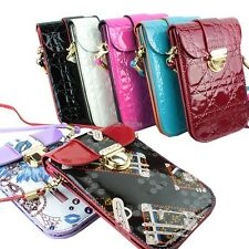 For Samsung Galaxy Phone Womens Wallet Purse Pouch With Shoulder Strap Bag Case