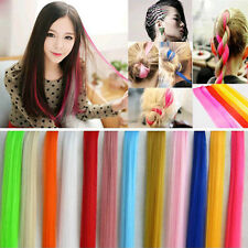 "24"" Long 19 Color Women Long Straight Synthetic Clip in on Hair Extensions Piece"