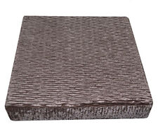 mp03t Lt. Silver Brown Thick Folds Shimmer Velvet 3D Box Sofa Seat Cushion Cover