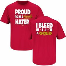 SAN FRANCISCO 49ers-Proud to Be A Seahawks Hater I Bleed Red & Gold FREE SHIP