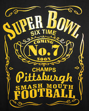 Pittsburgh Six Time Champs T-shirt Pittsburgh Steelers Size S-6XL Black & Gold