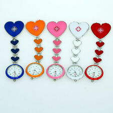 5 Color Choose New Fob Heart Brooch Nurse Quartz Pin Steel Watch GL13