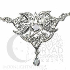 Dryad Designs Heart Pentacle Necklace w Gemstone by Paul Borda