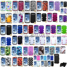 SAMSUNG GALAXY S3 / I9300 Hybrid Tuff Case Cover with Holster Stand