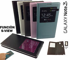 Funda inteligente S-VIEW para SAMSUNG GALAXY NOTE 3 N9000 N9005 flip cover libro