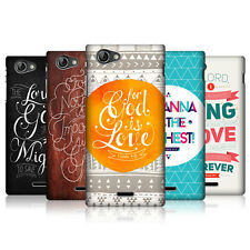 HEAD CASE FAMOUS BIBLE VERSE SNAP-ON BACK COVER FOR SONY XPERIA J ST26i