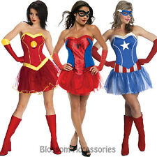 CL66 Marvel Ladies Spider Iron Lady Captain American Superheroine Tutu Costume