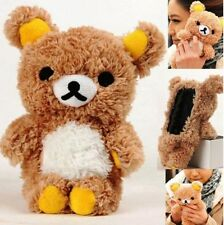 Cute 3D Lovely Teddy Bear Doll Toy Cool Plush Case Cover For Apple iPhone