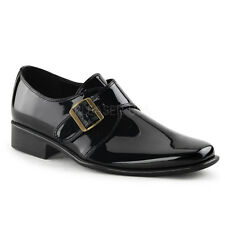 Black Patent 80s Michael Jackson Duckie Loafers Mens Costume Shoes size 11 12 13