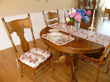 CHIC ROSES DINING KITCHEN SET/4 PADDED CHAIR CUSHIONS, PLACEMATS, TABLE RUNNER