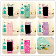 For iphone 5 5s 5c 6 4.7'' silicone Phone case cover Gemini My melody & Pendant