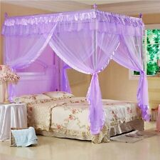 Princess 4 Poster Bed Canopy Mosquito Net Cal King Full Queen Twin-XL Bed Size