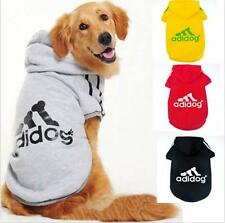 Big size Sports Hoodies Dog Coat Cloth T-shirts Pet Sweater Warm Apparel C39-C42