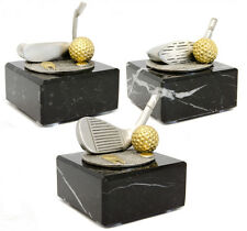 Personalised Marble and Pewter Golf Club Trophy Awards with Engraved Plaque