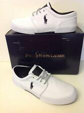 POLO RALPH LAUREN FAXON LOW-SK-VLC PURE WHITE CORDURA/LEATHER NEW TO THE MARKET