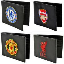 Premier League Football: Club Crest Leather Wallet Man Utd / Liverpool / Arsenal