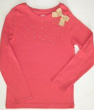 Gymboree Star of the Show Top 5 8 Gem Gold Bow Shirt Girls Pink New