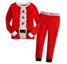 Christmas Santa Claus Baby Kids Nightwear Pj's Sleepwear Outfits Set Clothes