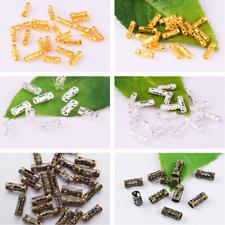 Silver/ Gold/ Bronze Charm Spacer Beads 8x3mm Metal Hollow Spacer Tube