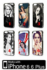 Lana Del Rey iPhone 6 6 Plus Black White Case Cover Phone Fan Gift Present Apple