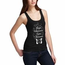 Women Cotton Novelty Cute Animal Design Boys Whatever Cats Forever Tank Top