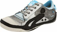 Womens Unique Design CUSHE Boutique Silver/Blue/Black Sneaker