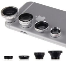 Magnetic 4in1 Fish eye+Telephoto+Wide Angle+Micro Lens for iPhone 6 Plus 5 5S 4S