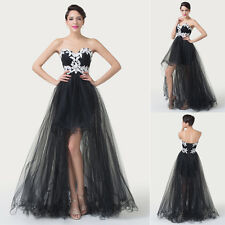 2014 Fabulous Strapless Bridesmaid Evening Prom Party High-Low Dress Ball Gowns