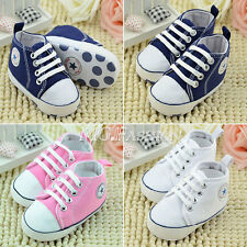 Star Toddler Baby Boy Girl Soft Sole Pram Shoes Trainers Newborn to 18 Months