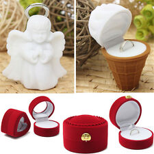Luxury Velvet Jewelry Ring Earrings Show Display Box Storage Gift Container Case