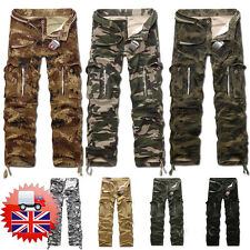 Men Cargo Pants Trousers Casual Trousers  Military CAMO Army Combat Army