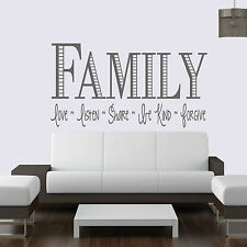 Family Love-Listen-Share ... Quote Vinyl Wall Art ,Sticker,Decal Any Room