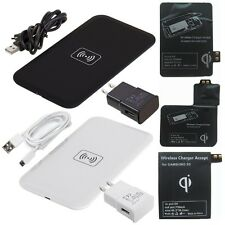 Qi Wireless Charger Pad +Receiver Kit for Samsung Galaxy S 5 S 4 S 3 NOTE 2 3 US