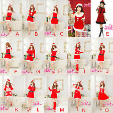 21Styles Xmas Home Party Santa Claus Adult Unisex Christmas Cosplay Suit Dress