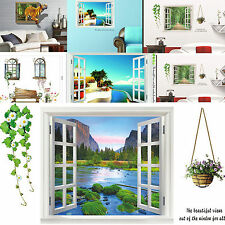 NEW Mediterranean Landscape Scenery Window Home Decor Removable Wall Stickers 3D
