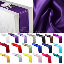 1 pieces 30cm x 275cm Satin Table Runner Wedding Party Banquet Decoration