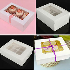 Bakery Box Gift Boxes Cupcake Pastry Muffin Mince Pie White Boxes Party Gift New