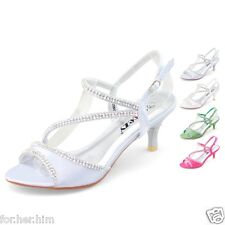 womens kitten heel ankle straps diamante evening dress comfort shoes size online