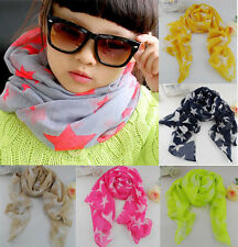 New Fashion Star Children's Scarf CHIFFON SILK NECK SCARF The Girl Scarf Shawl
