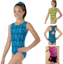 NEW Tribal Aztec Ikat Vivid Print Dance Gymnastics Leotard Child & Adult Sizes
