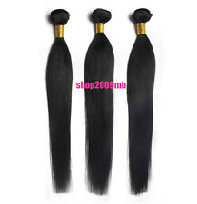 3 Bundles 150g Weave 100% Real Brazilian Human Hair Extensions Wefts Straight