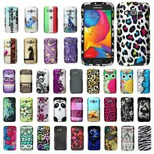 For Samsung Galaxy Avant SM-G386T Snap On Hard Rubberized Design Cover Case
